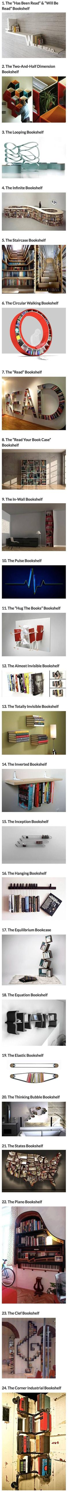 Cool and creative bookshelves - Imgur