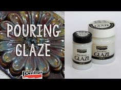 Pouring lakk // Pouring Glaze - YouTube Craft Materials, All Video, Glaze, Decoupage, Youtube, Crafts, Decor, Bottle, Easy Crafts