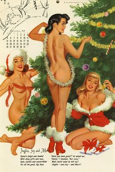 Xmas elves nude retro consider, that