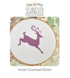 Hey, I found this really awesome Etsy listing at https://www.etsy.com/listing/60001881/reindeer-silhouette-cross-stitch-pattern