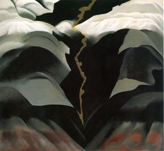 Georgia O'Keeffe 'Black Place III' 1944 Oil on canvas, 36 x 40 in. x cm) Georgia O'Keeffe Museum, Santa Fe, New Mexico Gift, The Burnett Foundation (CR © Private Collection Anime Comics, Santa Fe, Wisconsin, Georgia O'keefe Art, New Mexico, Georgia O Keeffe Paintings, Alfred Stieglitz, New York Art, Art Institute Of Chicago