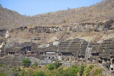 The 30 caves at Ajanta lie to the north of Aurangabad in the Indhyadri range of Western Ghats. The caves, famous for their temple architecture and many delicately. A Passage To India, Ajanta Caves, History Encyclopedia, Temple Architecture, Incredible India, Original Image, Ancient History, City Photo, The Incredibles