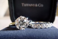 Tiffanys! dream engagement ring...just with an infinity wedding band :)