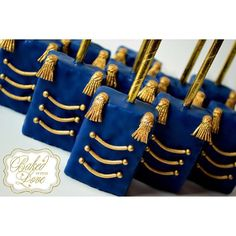 Royal prince themed chocolate covered Rice Krispies for Liam's baby shower…