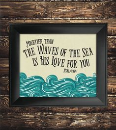 INSTANT DOWNLOAD Mightier than the Waves of by SeedsofFaithDesigns