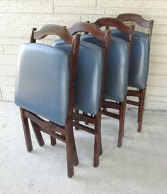 Stakmore Folding Chairs . Mid Century By TheVintageJunktion, $159.99