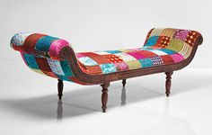 Awesome Ideas In . Patchwork Furniture By Just Fabrics Online Designer . Toilets and Bathroom Ideas House Decoration Items, Sofas, Couches, Colorful Couch, Patchwork Chair, Oversized Chair And Ottoman, Diy Home Decor Projects, Diy Chair, Upholstered Furniture