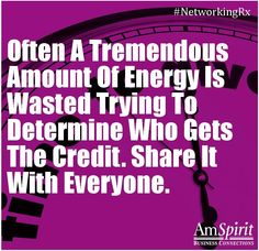 #NetworkingRx: How do you ensure you share the credit?