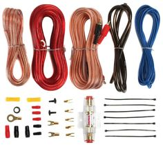 Install your car audio right at home with all the right pieces at your fingertips with the Soundstorm 8 Gauge Complete Amplifier Wiring Kit with RCA. The 8 Gauge amplifier installation kit has everything Kit, Boss Audio, Car Audio Amplifier, Subwoofer Box, Car Audio Systems, Rockford Fosgate, Speaker Wire, Thing 1, 4 Channel