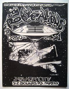 RARE 1975 Signed Roky Erickson Aliens 13th Floor Elevators Fairfax Cal Poster | eBay