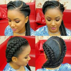 40 Ghana Braids Styles Ghana braids are growing in popularity and are a wonderful style. Check out these unique & hip styles of Ghana braids/Banana braids for your next braids hairdo! Ghana Braid Styles, Ghana Braids, African Braids, 2 Cornrow Braids, Ghana Style, African Hairstyles, Girl Hairstyles, Braided Hairstyles, Black Hairstyles