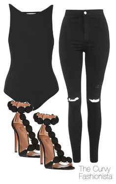 """Untitled #840"" by thecurvyfashionista ❤ liked on Polyvore featuring Topshop, Alaïa, women's clothing, women, female, woman, misses and juniors"