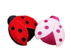 Marienkäfer ITH Stickmuster für eine Stickmaschine. Ladybug ith embroidery for embroidery machines. From Stickdesign Kerstin Bremer