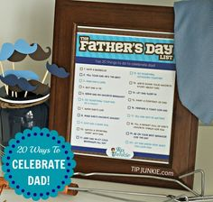 20 Fun Ways To Celebrate Dad on Father's Day.  {free printable}     #tipjunkie