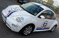 VW Beetle wrapped like Herbie