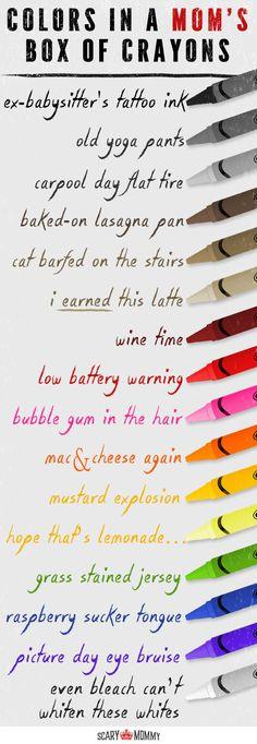 Mom's Crayons #sass #sarcasm #humor