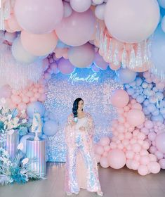 The only limit is your imagination. What a display with our friends over at with this insane mermaid bar theme featuring… Balloon Wall, Balloon Garland, Balloon Decorations, Birthday Party Decorations, Wedding Decorations, Birthday Parties, 25 Birthday, Deco Baby Shower, Baby Shower Balloons