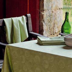 Serviette de table Garnier-Thiebaut - Modèle : Mille pensées - Serviette de table en coton - Coloris : vert