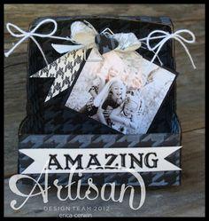 Pink Buckaroo Designs: Artisan Wednesday Wow- Mini Shadow Box