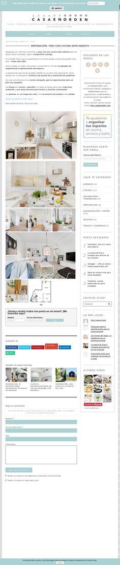 Inspiración: un piso con una cocina semi-abierta