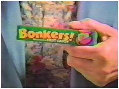 Bonkers candy was the stuff! I remember walking with my brother to convenience stores as a kid just to get these. Tennessee Williams, My Childhood Memories, Sweet Memories, School Memories, Old School Candy, 80s Food, Kickin It Old School, Retro Candy, 1980s Candy