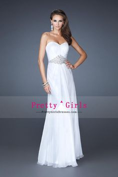 2014 Elegant A Line Prom Dress Sweetheart Beaded With Chiffon Floor Length Skirt
