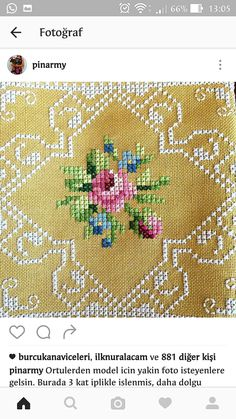 Cross Stitch Rose, Cross Stitch Borders, Cross Stitch Flowers, Cross Stitch Charts, Cross Stitch Designs, Cross Stitch Embroidery, Hand Embroidery, Cross Stitch Patterns, Quilt Patterns