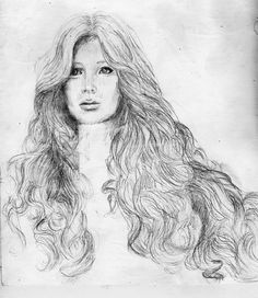 #drawing #woman #hair