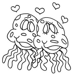 Online Coloring Pages, Have Some Fun, Jellyfish, Medusa, Manet
