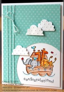 Stampin' Up! Noah's Ark Baby Cards, Two by Two  Posted on July 25, 2012 by Karen