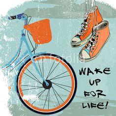Gumshoes sketch bike hipster