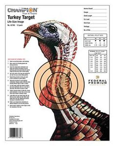 Champion Life-Size Turkey Sight-In Shooting Targets - 12