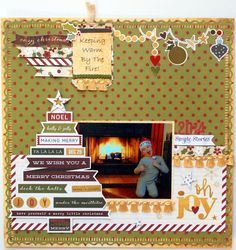"""""""Cozy Christmas"""" - Scrapbook.com - Made with Simple Stories Cozy Christmas collection."""