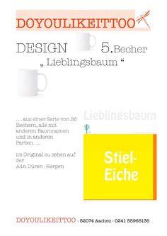 5. Becher mit Baum-Motiv aus Autobahn 4n - Serie: 26 Becher in 13 Farben in Möbel & Wohnen, Kochen & Genießen, Gedeckter Tisch | eBay!