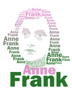 Typographic Portrait of Anne Frank