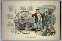 """""""Shall women vote?"""" cartoon 1909 (From the Library of Congress)"""