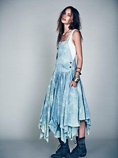Denim Dress delantal Babero en Denim de Ropa