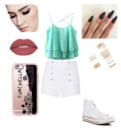 Idk a title  but like please :) <3 by saharaali on Polyvore featuring polyvore beauty Smashbox Casetify Forever 21 Pierre Balmain Converse Pierre Balmain, Casetify, Forever 21, Converse, Shoe Bag, Polyvore, Stuff To Buy, Shopping, Accessories
