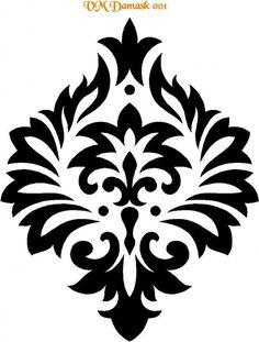 Résultat d'images pour damask stencil Stencils, Damask Stencil, Stencil Patterns, Stencil Art, Stencil Designs, Paint Designs, Embroidery Patterns, Motifs Islamiques, Home Bild