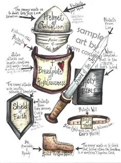 Ephesians Love this! I can use this in my bible journaling! Scripture Study, Bible Art, Bible Scriptures, Spiritual Armor, Spiritual Warfare, Bibel Journal, Bible Lessons, Jehovah, Christian Life