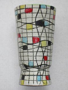 1950s Italian Modernist Italy Pottery Vase Mid Century Modern Raymor Gambone Era