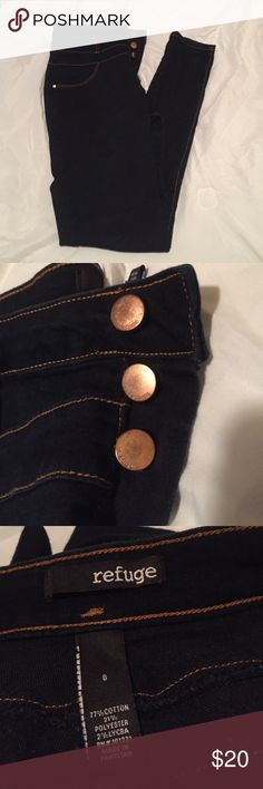High Waisted Jeans Dark wash high waisted skinny jeans. Never worn. refuge Jeans Skinny