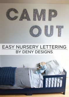 Easy wall lettering for nursery, above crib or anywhere else in your home #homedecor