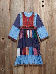 Vintage Denim Patchwork Dress