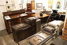 This shop has a variety of vintage letterpresses.