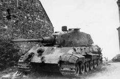 A rare knocked out German Tiger II tank
