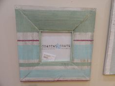 """Coastal Distressed 19"""" Square Solid Wood Picture by CoastalCrate, $59.00"""