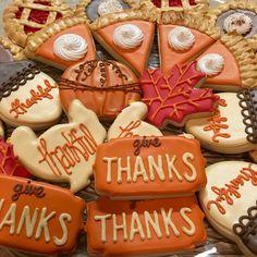 Thanksgiving cookies #confetticookies Confetti Cookies, Thanksgiving Cookies, Give Thanks, Fall, Desserts, Autumn, Tailgate Desserts, Deserts, Fall Season