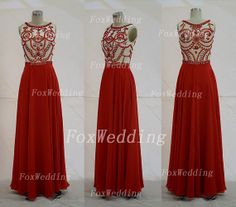 Long Red Prom Dress,Modest Prom Dress,Elegant Prom Dress,Long Beaded Prom Dress,Crystal Prom Dress,8th Grade Graduation Dress,Red Prom Gown on Etsy, $189.00