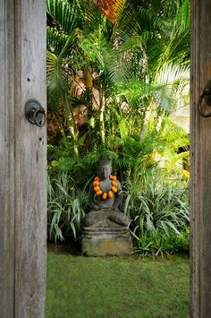 25 Ideas for tropical garden bali lush Balinese Garden, Bali Garden, Diy Garden, Dream Garden, Tropical Landscaping, Tropical Plants, Garden Landscaping, Tropical Gardens, Exotic Plants